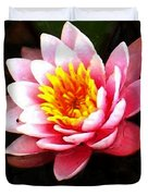 Waterlily On Pond Duvet Cover