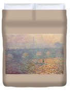 Waterloo Bridge Duvet Cover by Claude Monet