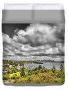 Watson Bay Sydney Harbor Duvet Cover