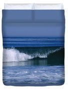 Wave Breaking Right On The Beach At 17 Duvet Cover