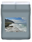 Waves Breaking On Shore 7876 Duvet Cover
