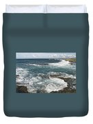 Waves Breaking On Shore  7918 Duvet Cover