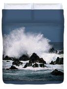 Waves Crash Against The Rocks In Great Duvet Cover