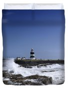 Waves Crash Against The Wexford Coast Duvet Cover
