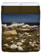 Waves Hitting Rocks, Anchor Brook Duvet Cover