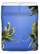 Waving Palm Trees Duvet Cover