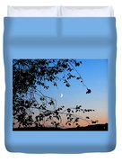 Waxing Crescent Moon Duvet Cover