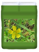 Way Down In The Grass Duvet Cover