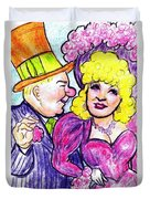 W.c. Fields And Mae West Duvet Cover
