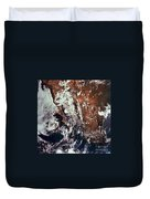 Weather Patterns Over Earth Duvet Cover
