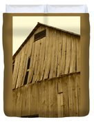 Weathered Barn I In Sepia Duvet Cover