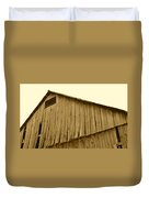 Weathered Barn II In Sepia Duvet Cover