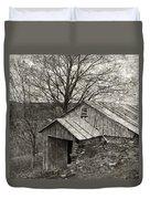 Weathered Hillside Barn Duvet Cover