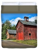 Weathered Red Barn Duvet Cover