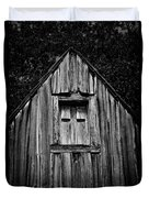 Weathered Structure - Bw Duvet Cover