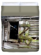 Weathered Wood Window Duvet Cover