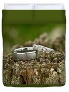 Wedding Bands And Fence Post 12 Duvet Cover