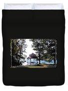 Wedding Gazebo By Lake Erie At Evangola State Park Duvet Cover