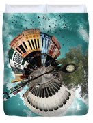 Wee Downtown Bryan Duvet Cover by Nikki Marie Smith