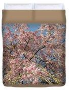 Weeping Cherry Tree In Bloom Duvet Cover