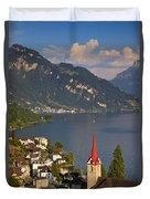 Weggis Switzerland Duvet Cover