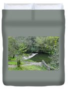 Weir Below Lover's Leap - Dovedale Duvet Cover