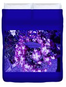 Welcome Flowers In Purple Duvet Cover