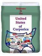 Welcome To Corporica Duvet Cover