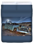 Welcome To Death Valley Duvet Cover by Bob Christopher