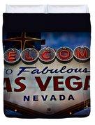 Welcome To Fabulous Las Vegas 2 Duvet Cover