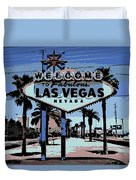 Welcome To Vegas  Duvet Cover