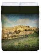 We'll Walk These Hills Together Duvet Cover
