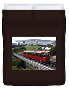 Tram Car Viewpoint - Wellington, New Zealand Duvet Cover