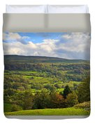 Wensleydale Near Westholme Bank In The Yorkshire Dales Duvet Cover