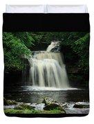 West Burton Falls In Wensleydale Duvet Cover