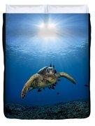 West Maui Sea Turtle Duvet Cover