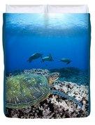 West Maui Sea Turtles Duvet Cover