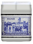 West Point Postage Stamp Duvet Cover