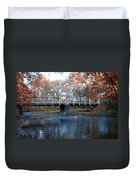 West Valley Green Road Bridge Along The Wissahickon Creek Duvet Cover by Bill Cannon