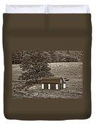 West Virginia Sepia Duvet Cover