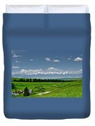 Westerly View Of The Bridger Mountains Duvet Cover