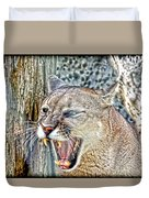 Western Cougar Duvet Cover