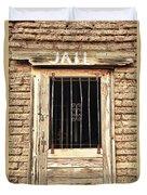 Western Jail House Door Duvet Cover