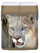 Western Mountain Lion Duvet Cover