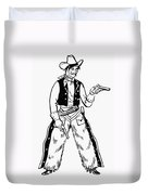 Western Outlaw Duvet Cover