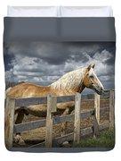 Western Palomino Horse In Alberta Canada No.1335 Duvet Cover
