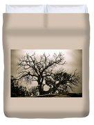 Western Winter Tree Duvet Cover
