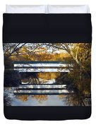 Westport Covered Bridge - D007831a Duvet Cover by Daniel Dempster