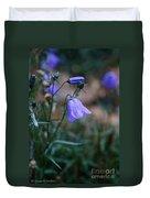 Wet Bellflower Duvet Cover