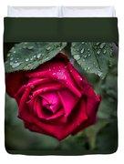 Wet Weather Rose Duvet Cover